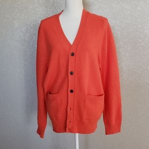 Club Monaco orange wool cardigan